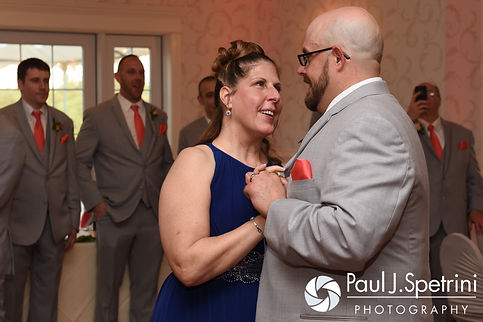 Eric and his mother dance during his May 2016 wedding at Hillside Country Club in Rehoboth, Massachusetts.