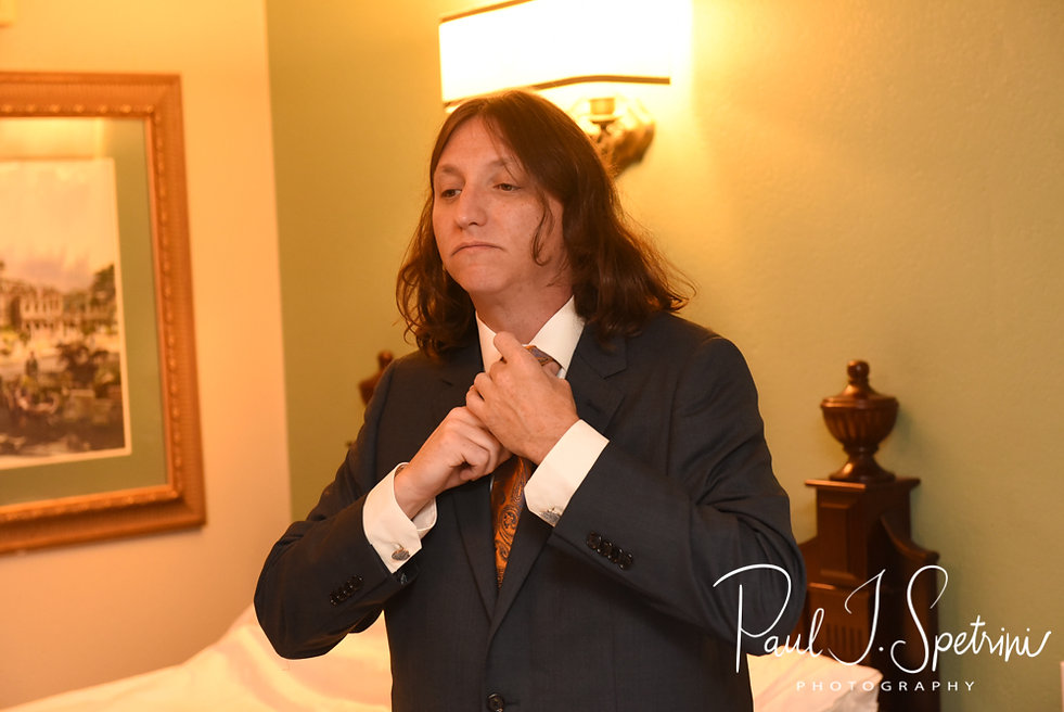 Josh gets ready prior to his October 2018 wedding ceremony at the Walt Disney World Swan & Dolphin Resort in Lake Buena Vista, Florida.