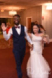 Courtnie and Richardson are introduced during their August 2018 wedding reception at Emerald Hall in Abington, Massachusetts.