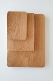 Stacked boards overhead view