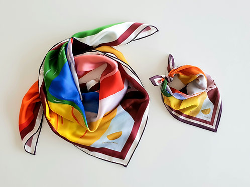Colourful Silk Scarf & Bandana
