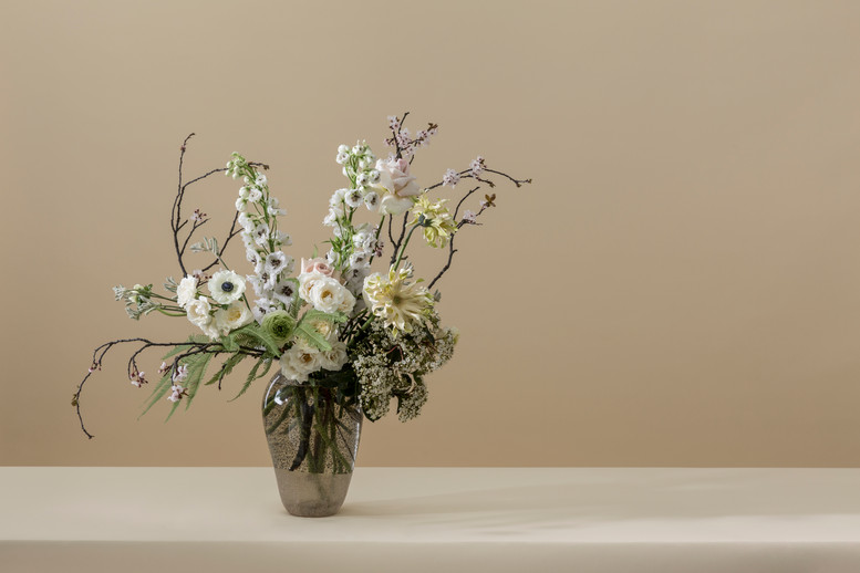 Photography by Oli Douglas Flowers by Hattie Fox / That Flower Shop  Art direction by Socio Design Vases by Studio Sahil for Fineblooms