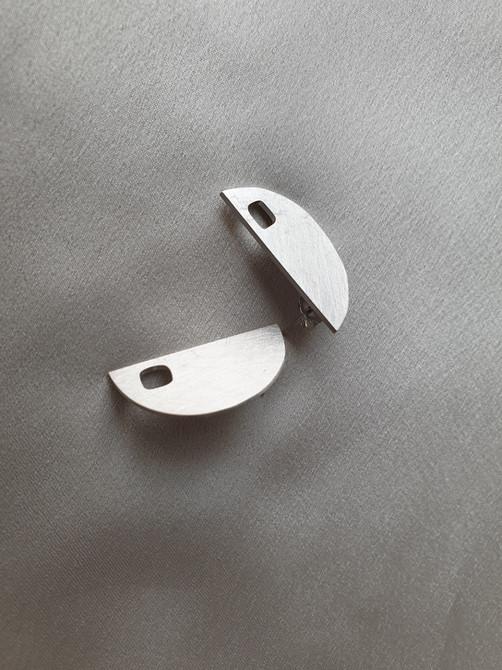 Cappadocia earrings in white gold