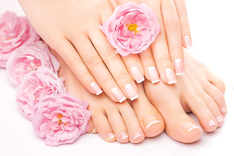 Relaxing pedicure and manicure with a pi