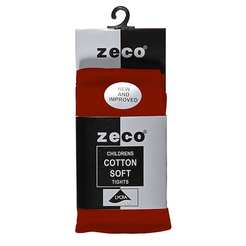 RED COTTON RICH TIGHTS