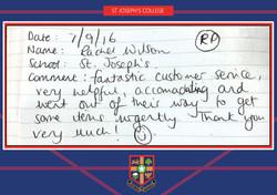 ST JOSEPH'S testimonial