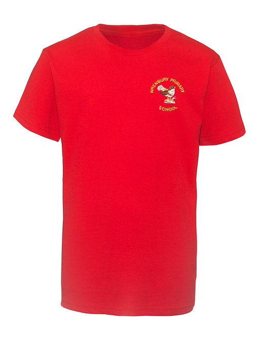 WRENBURY RED PE TEE SHIRTS