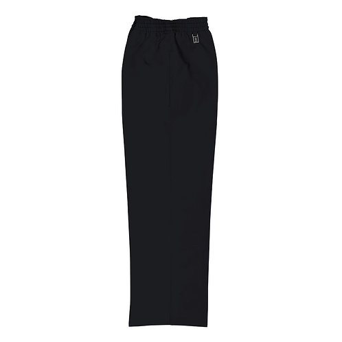 JUNIOR BOYS BLACK PULL UP TROUSERS