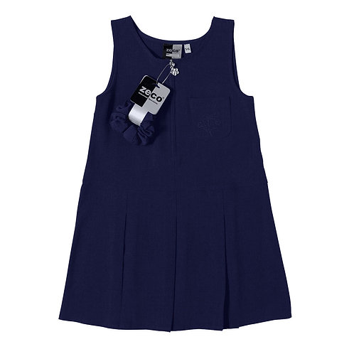 NAVY FLOWER PINAFORE