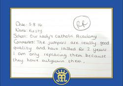 OUR LADY CATHOLIC ACADEMYtestimonial