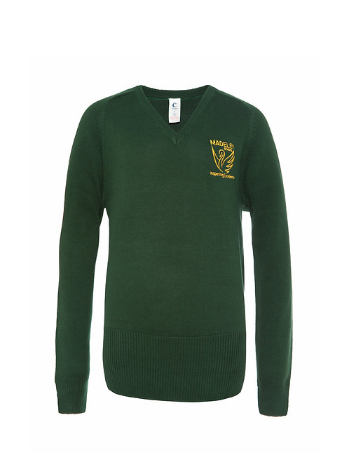 MADELEY HIGH GIRLS V-NECK JUMPER