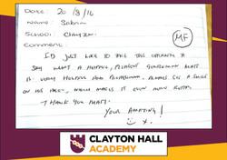 CLAYTON HALL ACADEMY testimonial copy