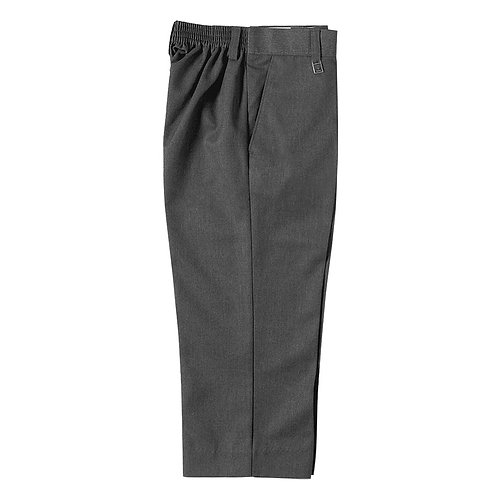 JUNIOR BOYS GREY STURDY FIT TROUSERS