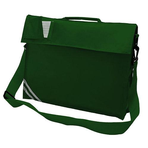 BOTTLE GREEN PLAIN SHOULDER BAG