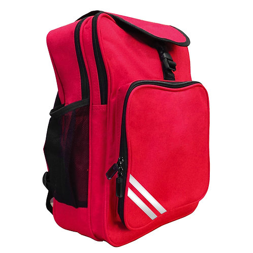 RED PLAIN BACKPACK