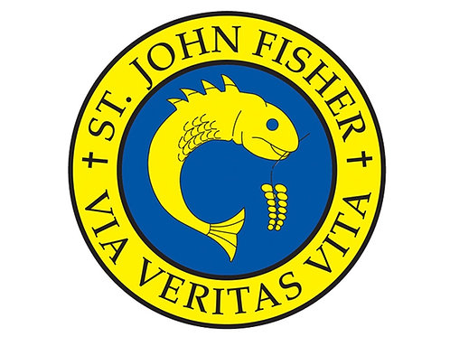 ST JOHN FISHER SEW ON BADGE
