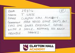 CLAYTON HALL ACADEMY 2 testimonial