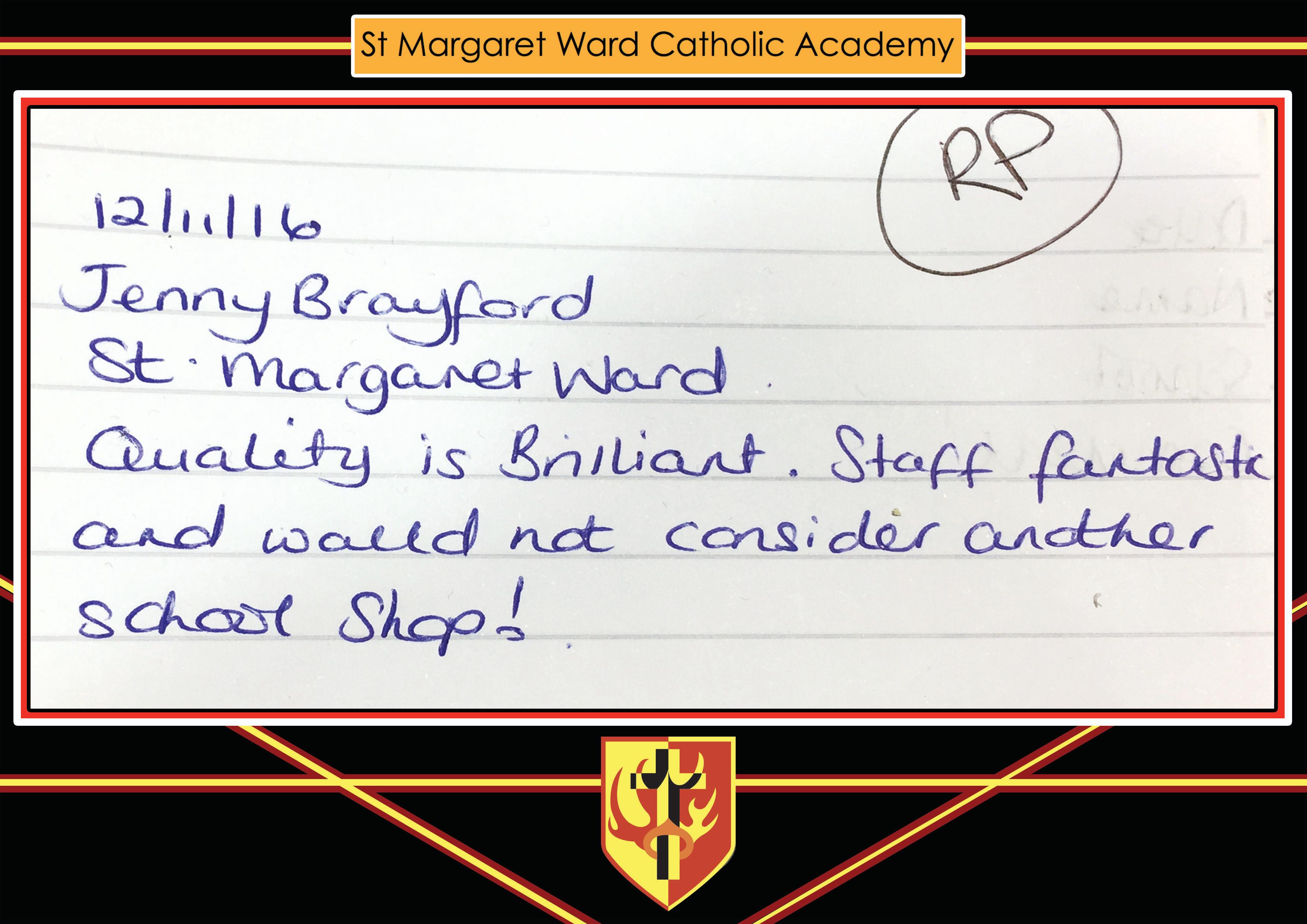 ST MARGARET WARD testimonial
