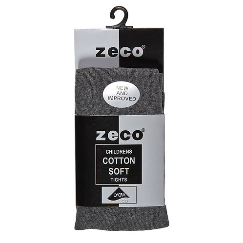 CHARCOAL GREY COTTON RICH TIGHTS