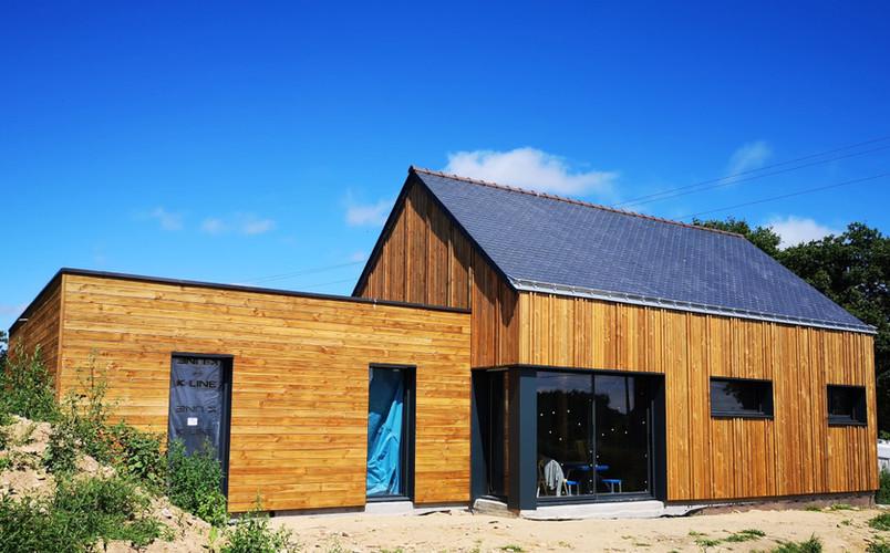 Maison bois, ossature bois, Theix, Morbihan