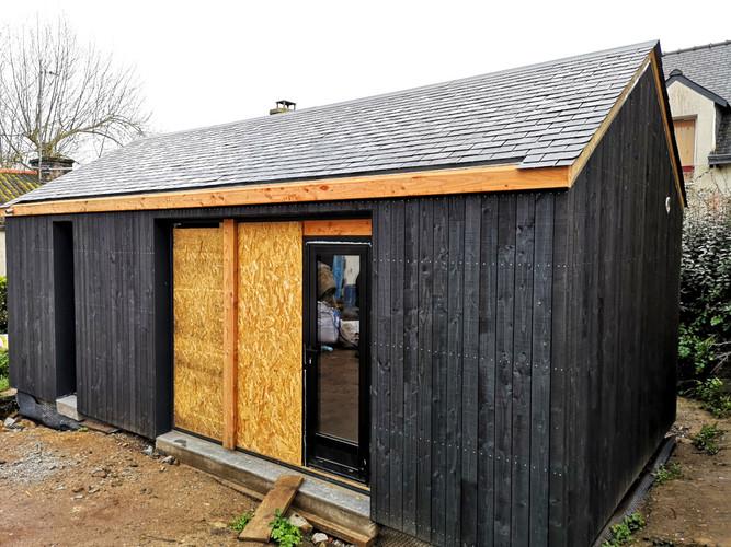 Extension bois, ossature bois, maison bois, Ile d'Arz, Morbihan