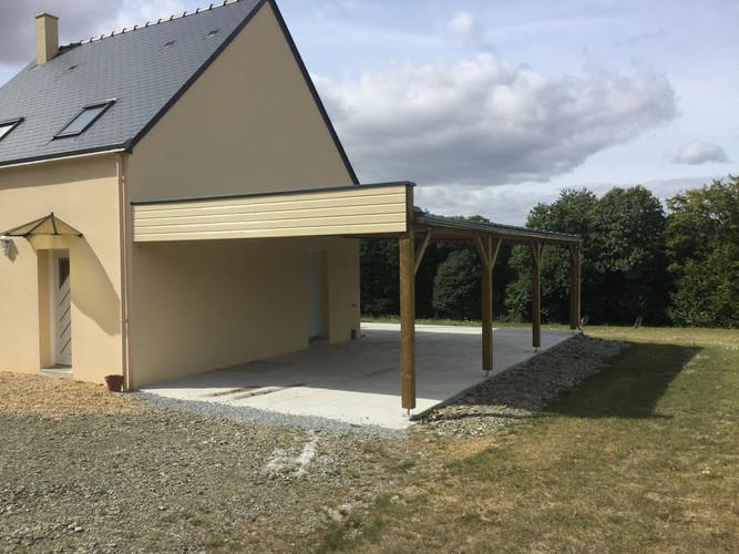 Carport bois, Ploërmel, Morbihan