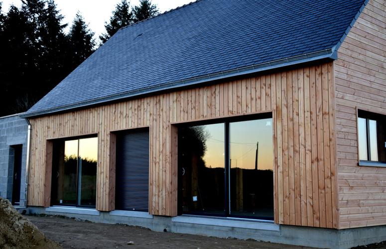 Maison bois, ossature bois, La Chapelle Caro, Morbihan
