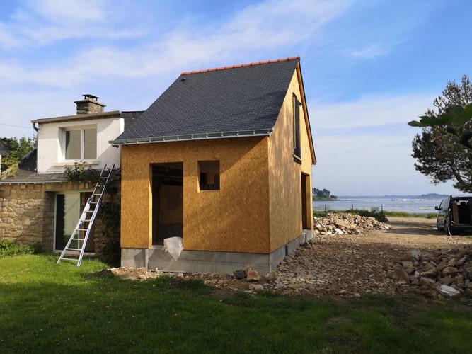 Extension bois, ossature bois, Arzon, Morbihan