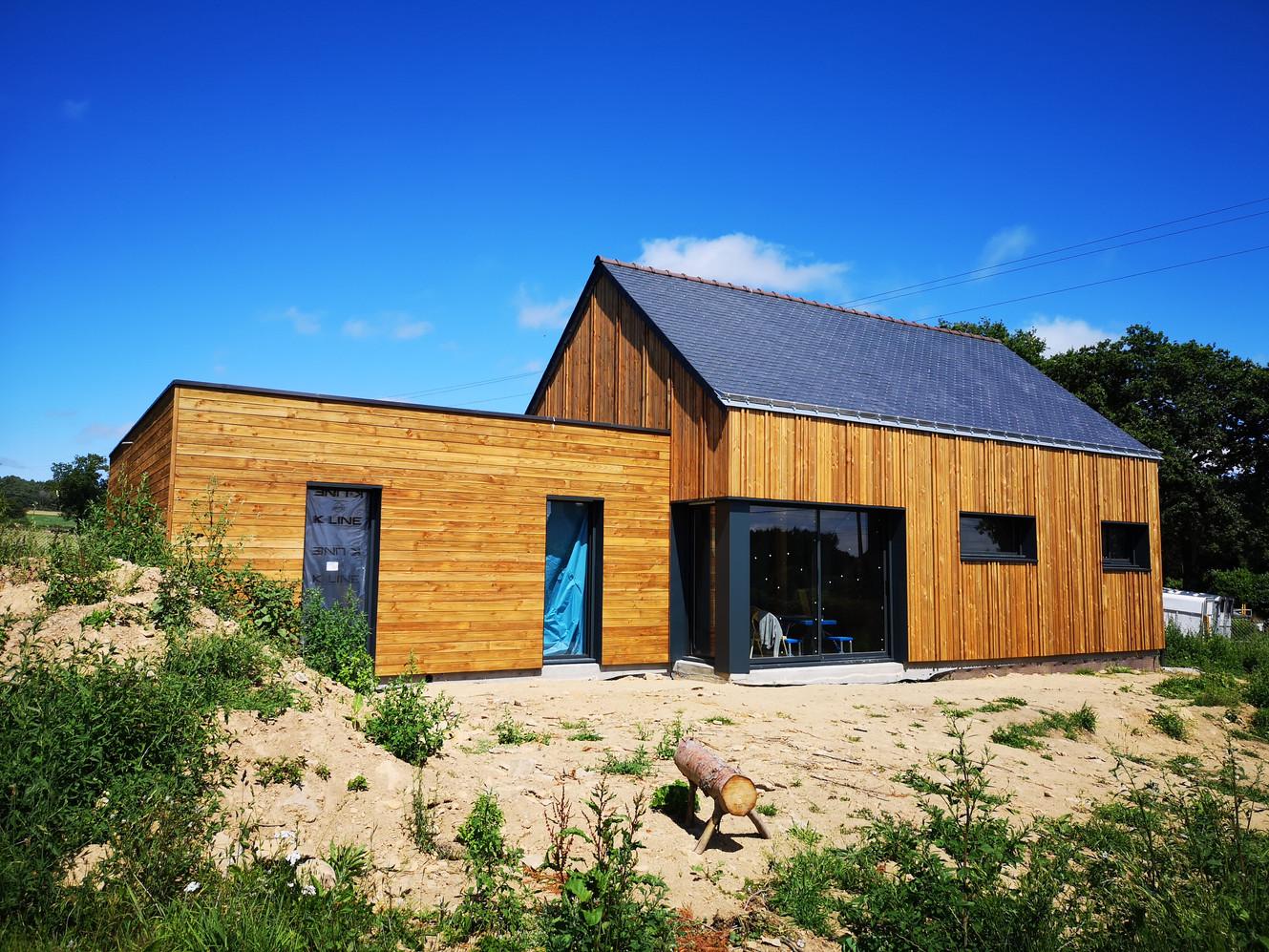 Maison, ossature bois, Theix, Morbihan