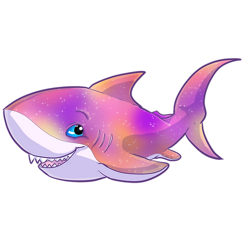 Galaxy Shark Magnet