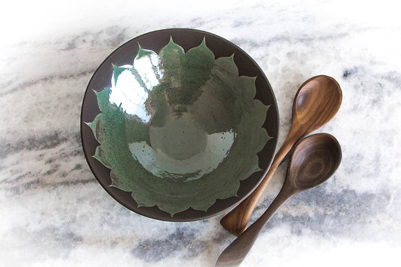 Sm Moroccan Serving Bowl, Rust Green