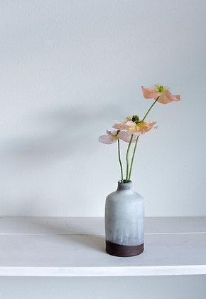 Bottle vase, opaque matte white