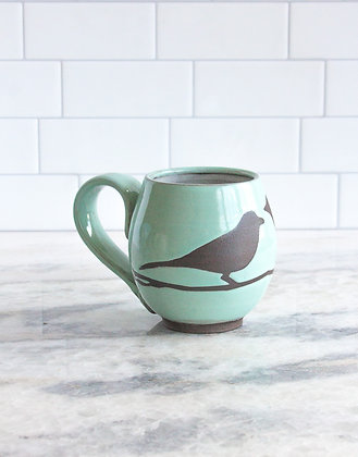 14oz Bird Mug, Seafoam Green