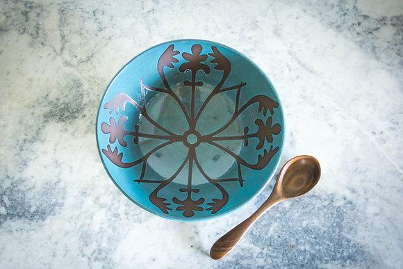 Elizabeth Serving Bowl, Teal/Turquoise Blue