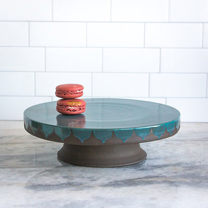 "11"" Cakestand, Moroccan in Dark Teal Blue"