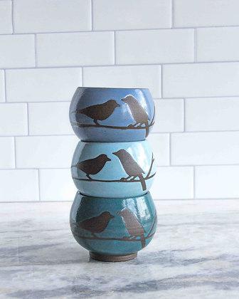 8oz Bird Teacup (no handle), (choose color)