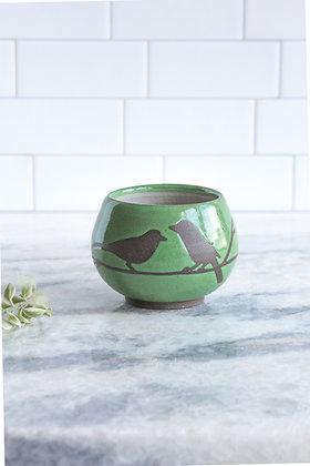 Bird Teacup (no handle), Grass Green