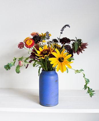Jar Vase, New Bright Blue Matte