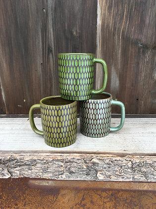 Olive Green Textured Diner Mug