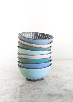Tiny Ice Cream Bowl, Daisy Pattern (Choose Color)