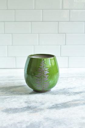 Handle-less Douglas Fir Mug, Moss Green