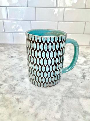 10oz Diner Mug - Speckled Turquoise