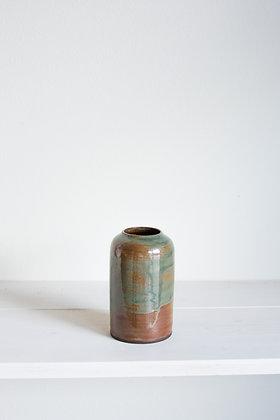 Small Jar Vase, Rust Green
