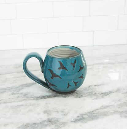 14oz Flight Mug, Teal Blue