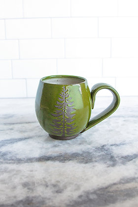 14oz Douglas Fir Mug, Moss Green