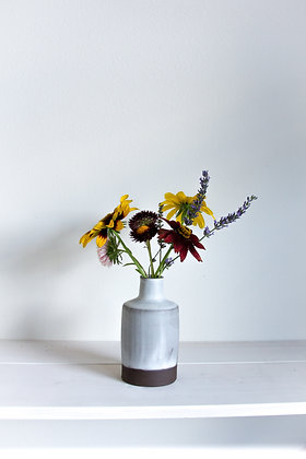 Bottle vase, opaque matte white