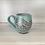 Thumbnail: 14oz Paisley Mug, Speckled Turquoise