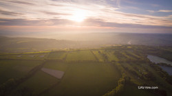 View-over-Town-Sunset-UAV-hire