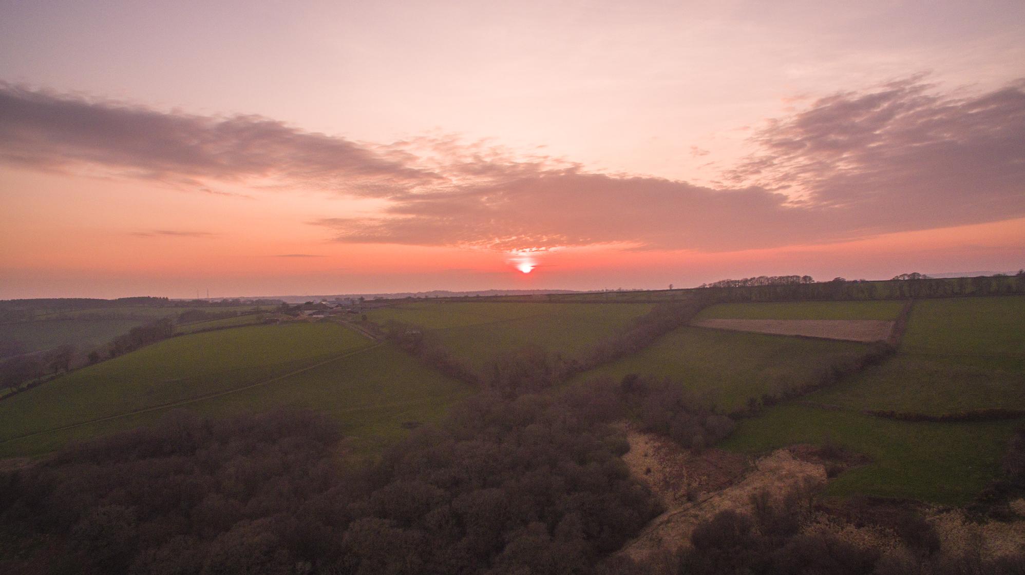 Sunset-in-East-Devon-UAV-Hire.com