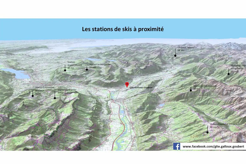 Stations de ski à proximité du gîte
